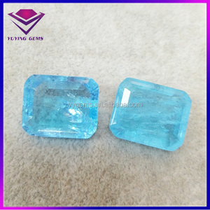 Rough Aquamarine OCT Emerald Cut Crystal Jewelry Aquamarine Stone