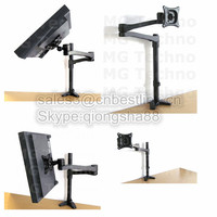 Anti-theft wall mount aluminum LCD monitor arm bracket