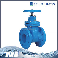 Flange type Gate Valve Non-rising Stem Resilient Seat Rubber Seat