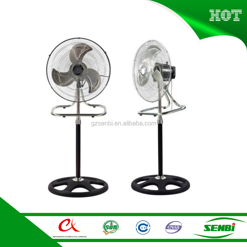 18'' 2 in 1 large crown stand fan industrial pedestal fan for sale