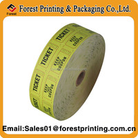 170g Double printing pictures paper Game Tickets