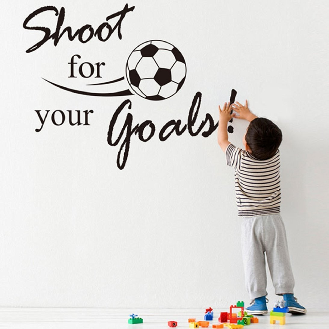 AutumnFall® New New Shoot For Your Goals Football Soccer Removable Decal Wall Sticker Home Decor