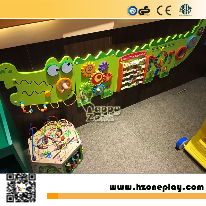 Hot Selling Interactive And Educational Wooden Wall