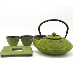 Gusheng Gift packing cast iron teapot set with 4 tea cups