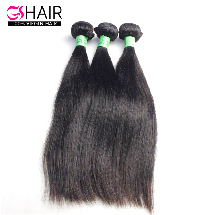 3pcs /lot Straight natural <strong>Black</strong> Human Hair Weave 8-34inch gs hair extension dhl free shipping Brazilian Virgin Hair
