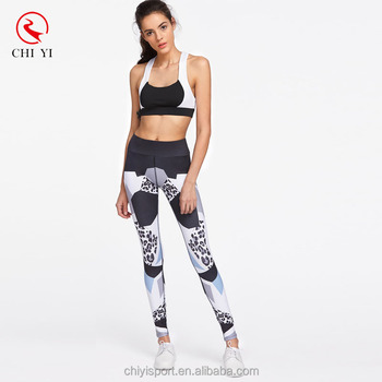 d6bcb9b76a489 Wholesale Geometric Printing Pattern Woman Sports Leggings Sexy Girls  Fitness Tights Yoga Wearing Pants custom made