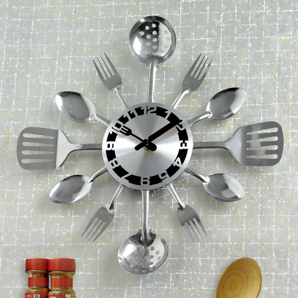 Cheap Silver Kitchen Wall Clock Find Silver Kitchen Wall Clock