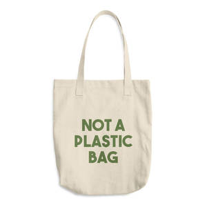 Reusable environmentally friendly not a plastic eco cotton tote bag