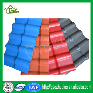 Residential construction material types of roofs for garage/kerala roof  tile prices/pvc resin price