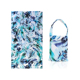 Wholesale Beach Towel Backpack Printing 2 In 1 Folding Large Custom Summer Tote Beach Towel Bag