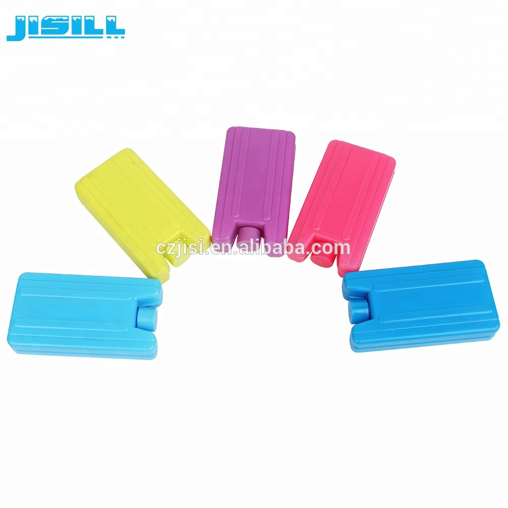 Juego de 3 mini bloques de ladrillos de hielo caja de viaje para picnic bolsa refrigeradora para congelador colores surtidos