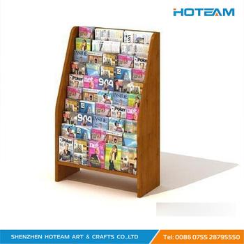 Retail Buying Wooden Floor Stand Book Display Rack Acrylic Book