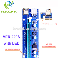 Factory outlet high quality ver 009s pcie riser card with 2 led
