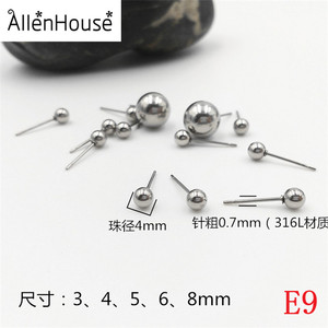 Dongguan supplier make factory price stainless steel metal jewelry earring stud