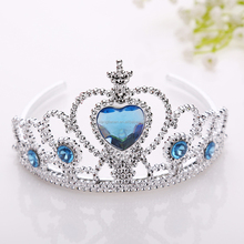 Wholesale princess Frozen Elsa dress up plastic head Tiara Crown for girls