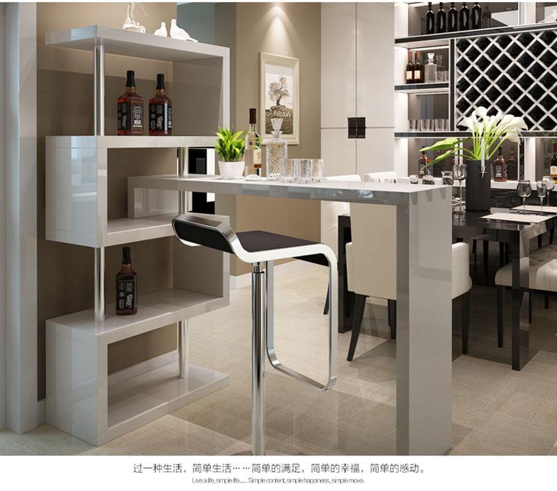 Bar meubels mdf bar tafel wit moderne hoek ruimtebesparend for Table bar moderne