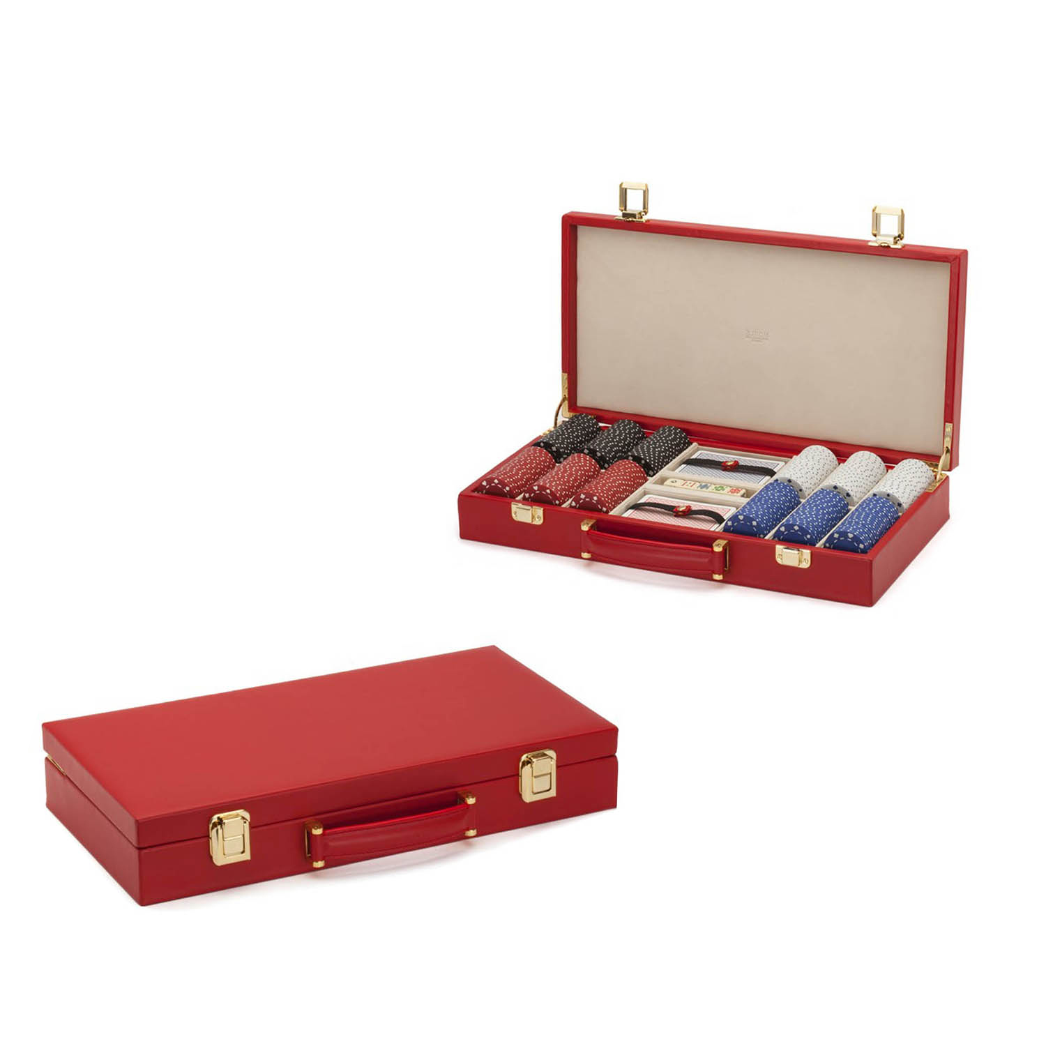 Luxurious rectangle portable leather backgammon dividers in snap