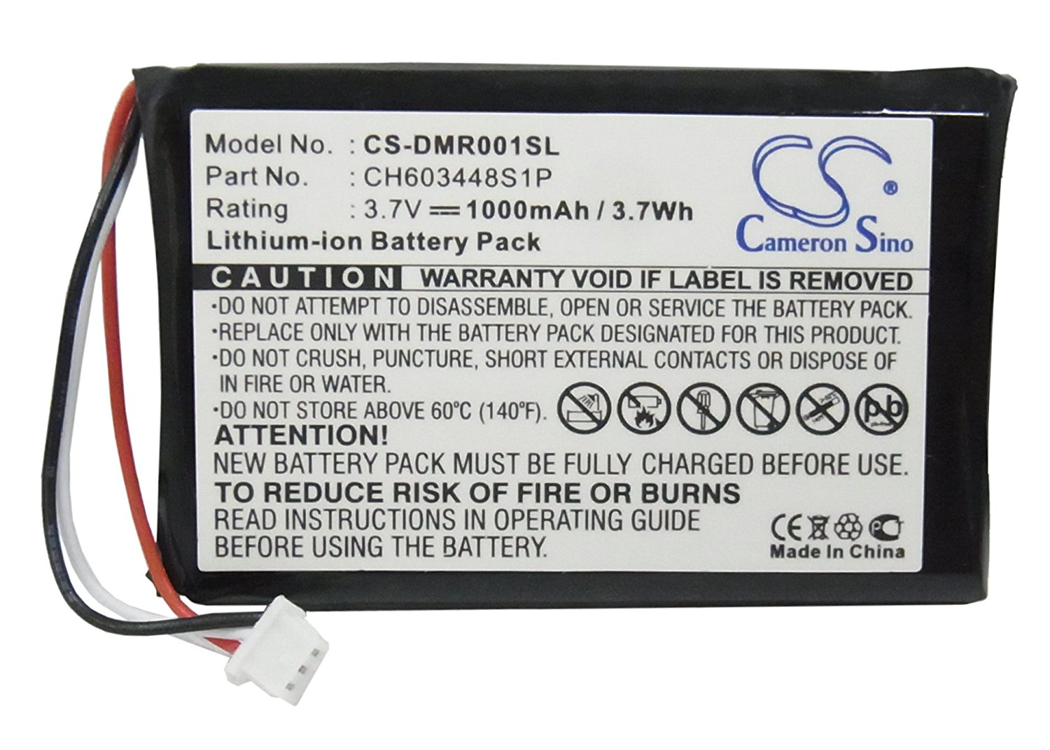 ESPN CH603448S1P Battery - Replacement for ESPN DMR-1 Battery ( 1000mAh, 3.7V, Li-ion)