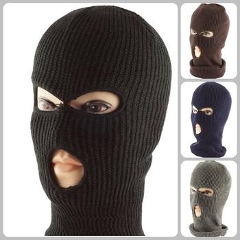 4a0d04b2ff1 Custom 3 Hole Ski Face Balaclava Mask Winter Beanie Ski Snowboard Hat Cap