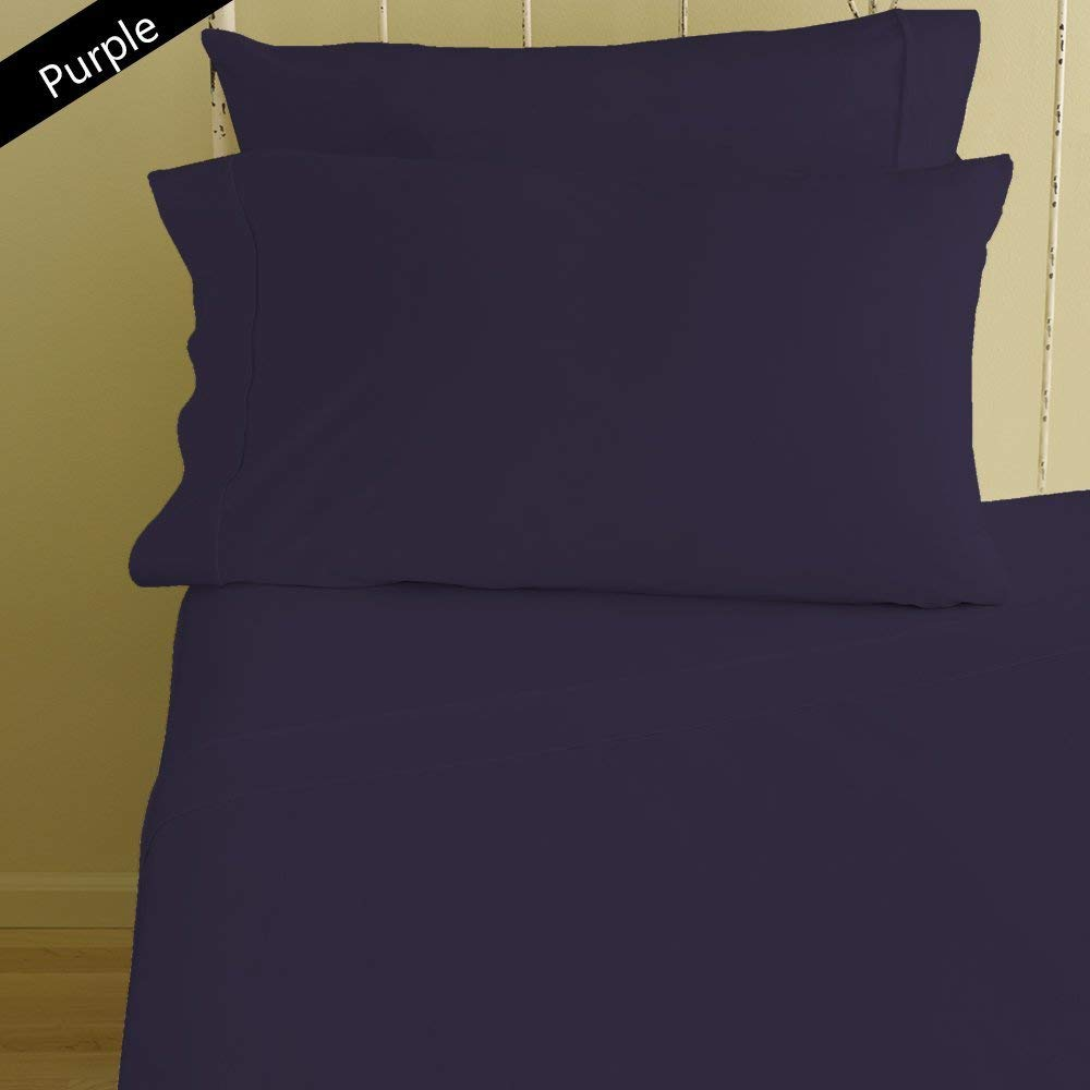 """Lussona Collection 800 Thread Count 100% Egyptian Cotton Bed Sheets - 4 Piece Bed Sheet Set 17"""" Deep Pocket HIGHEST QUALITY & LOW PRICE- Wrinkle Free Hypoallergenic Bedding- Standard ,Purple."""