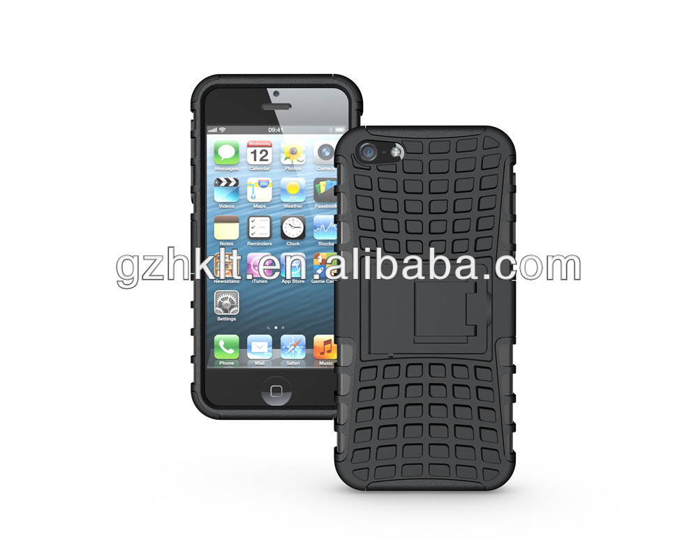 Wholesale! Factory price shockproof hybrid hard case for Apple iphone 5 5S mobile phone case cover
