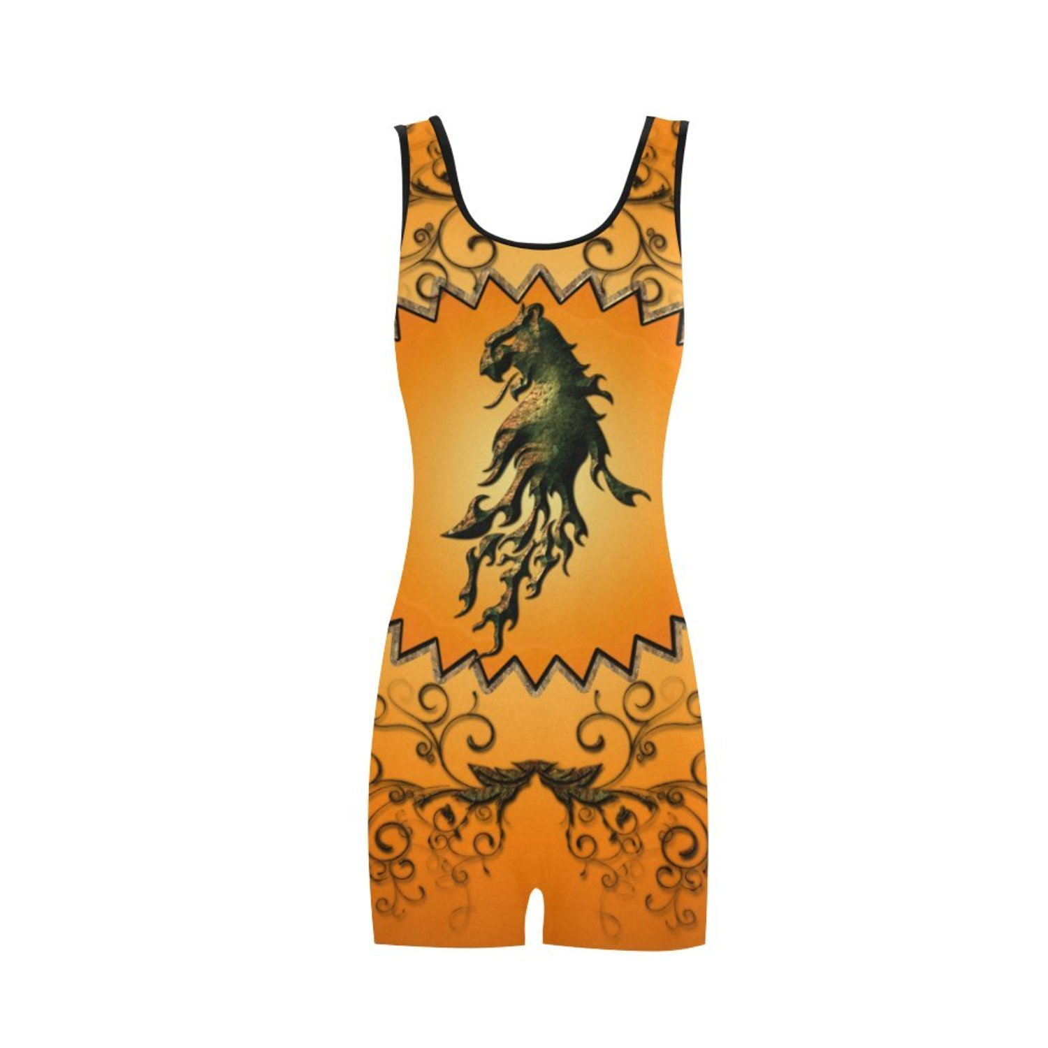 9f40557ffaed Get Quotations · Artsadd Lion With Flame Classic One Piece Swimwear Swimsuit