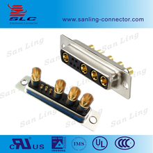 High electric current power 9W4 d-sub 9 pin connector