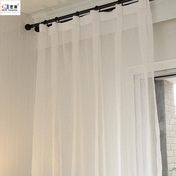 European Grommet Style Bedroom Living Room Window 2 Panels Linen Sheer Curtains