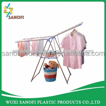 Foldable 2 layers Clothes air dryer, stainless steel material cloth drying rack, Clothes hanger