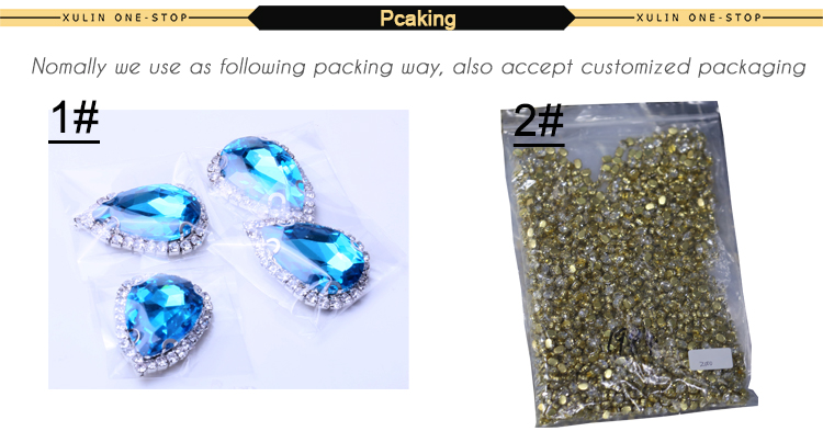 XULIN 5*10mm sew on rhinestone claw setting crystals