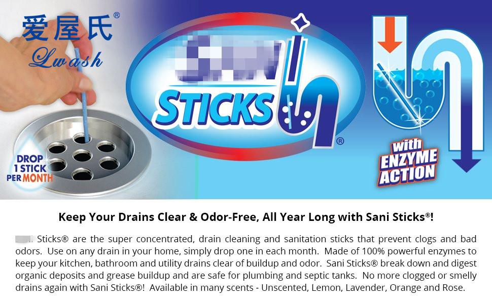 Custom Sani Sticks As Seen On Tv Drain Cleaner And