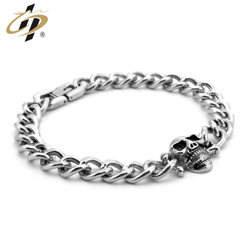 Hot selling metal stainless steel chain necklace 3D high polished men bracelet
