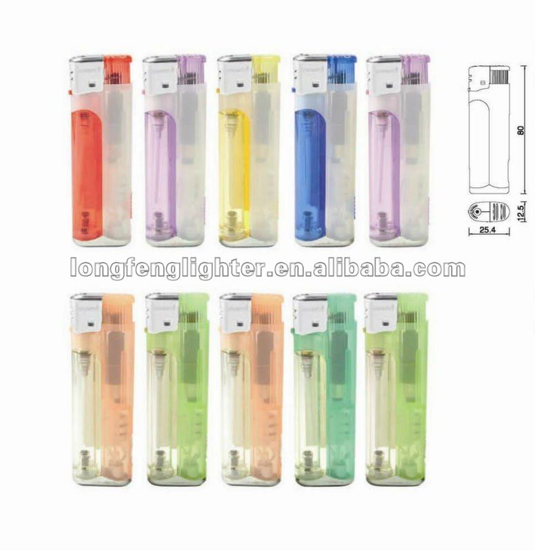 LED plastic lighter with ISO9994 , CPSC and EN13869