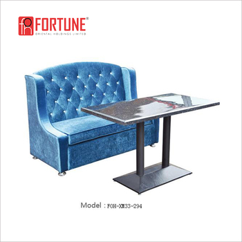 Hot Sale Restaurant Blue Sofa Booth And Table(foh-xm33-294) - Buy Booth And  Table,Sofa Booth And Table,Blue Sofa Booth And Table Product on ...