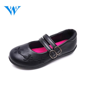 2018 classic design teenage girls injection school shoes black kids school shoes