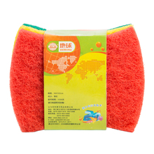 EARTH brand custom shaped colorful card packing power cleaning kitchen nylon scourer