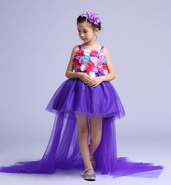 Flor niña vestido de tul puffy Tutu pétalo vestido princesa traje ...