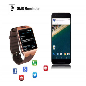 free shipping DZ09 Smart Watch Bluetooth 2019 Compatible Phone PLUS pk GT08 t8 a1 for samsung phone watch