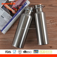 500ml double wall bamboo lid stainless steel drink bottle