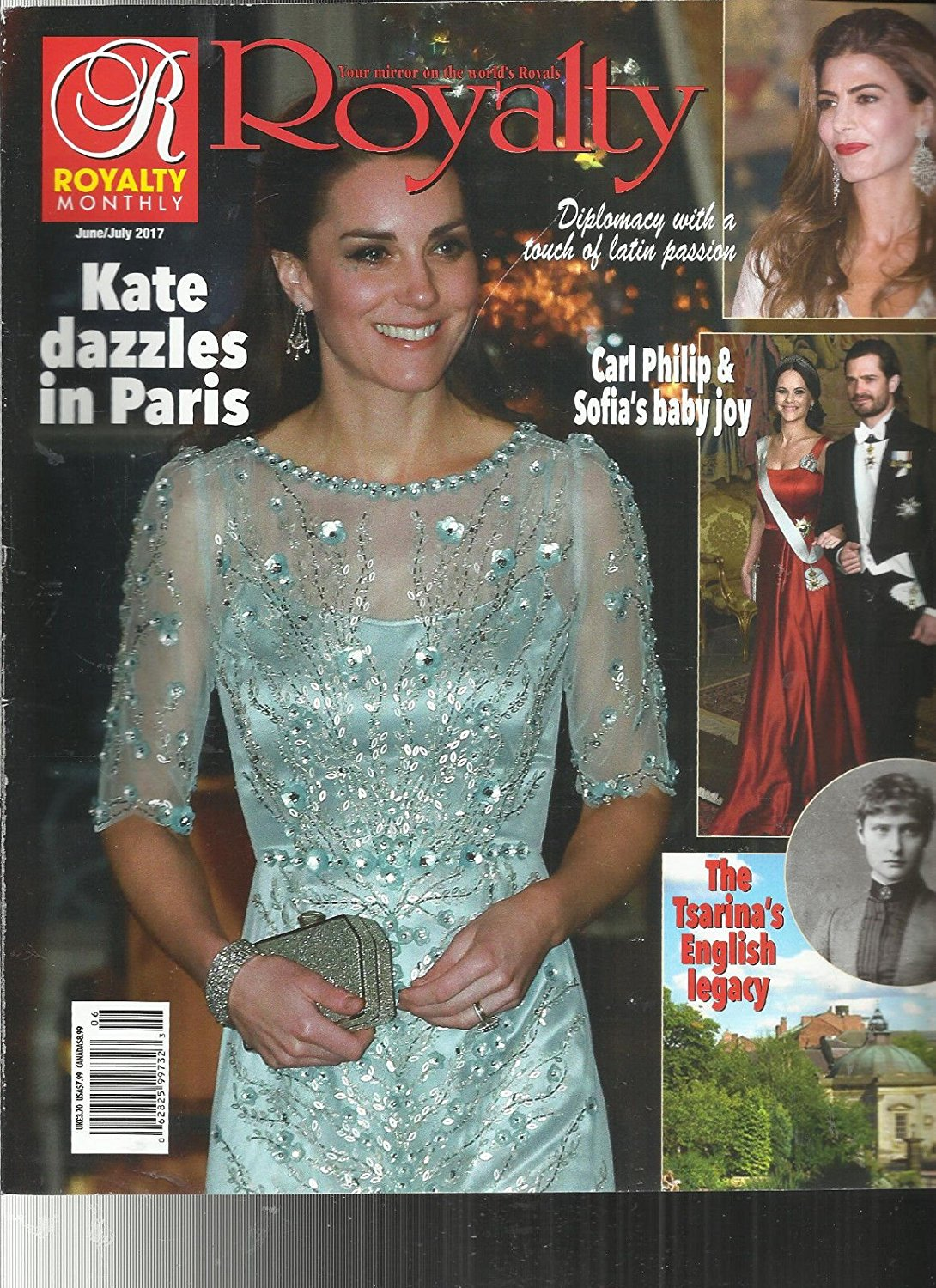 ROYALTY MONTHLY MAGAZINE, JUNE/JULY, 2017 KATE DAZZLES IN PARIS