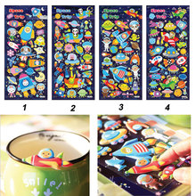Factory Directe Verkoop Aanpasbare Glow in The Dark Stickers 3D Puffy Stickers