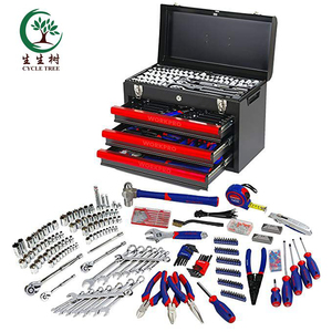 China Tool Home Professional Mechanic Tool Set with 3-Drawer Heavy Duty Metal Box (408 Piece)