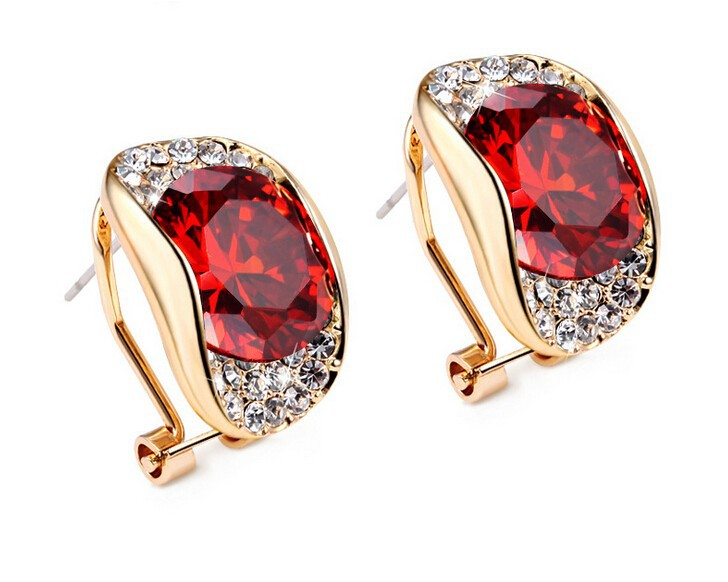 C29856A Fashion Hot-selling Ladies Geometry Crystal Young Girls Stud Earrings
