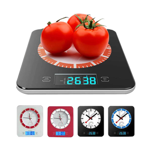 Weight food scale digital kitchen scale with clock