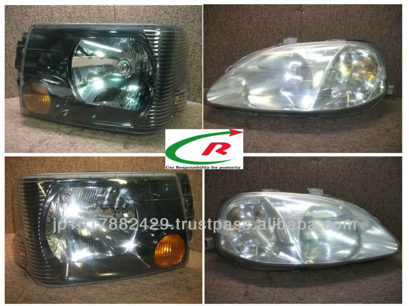 Used headlight for toyota / many kind of size , color and model