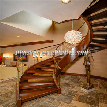 Wood Staircase With Gl Railing
