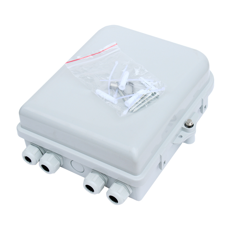 12 port FTTH Fiber Optic Termination Box 12 Core ABS  Outdoor Fiber Optic Distribution Box ,FTTH box , FTTH distribution box