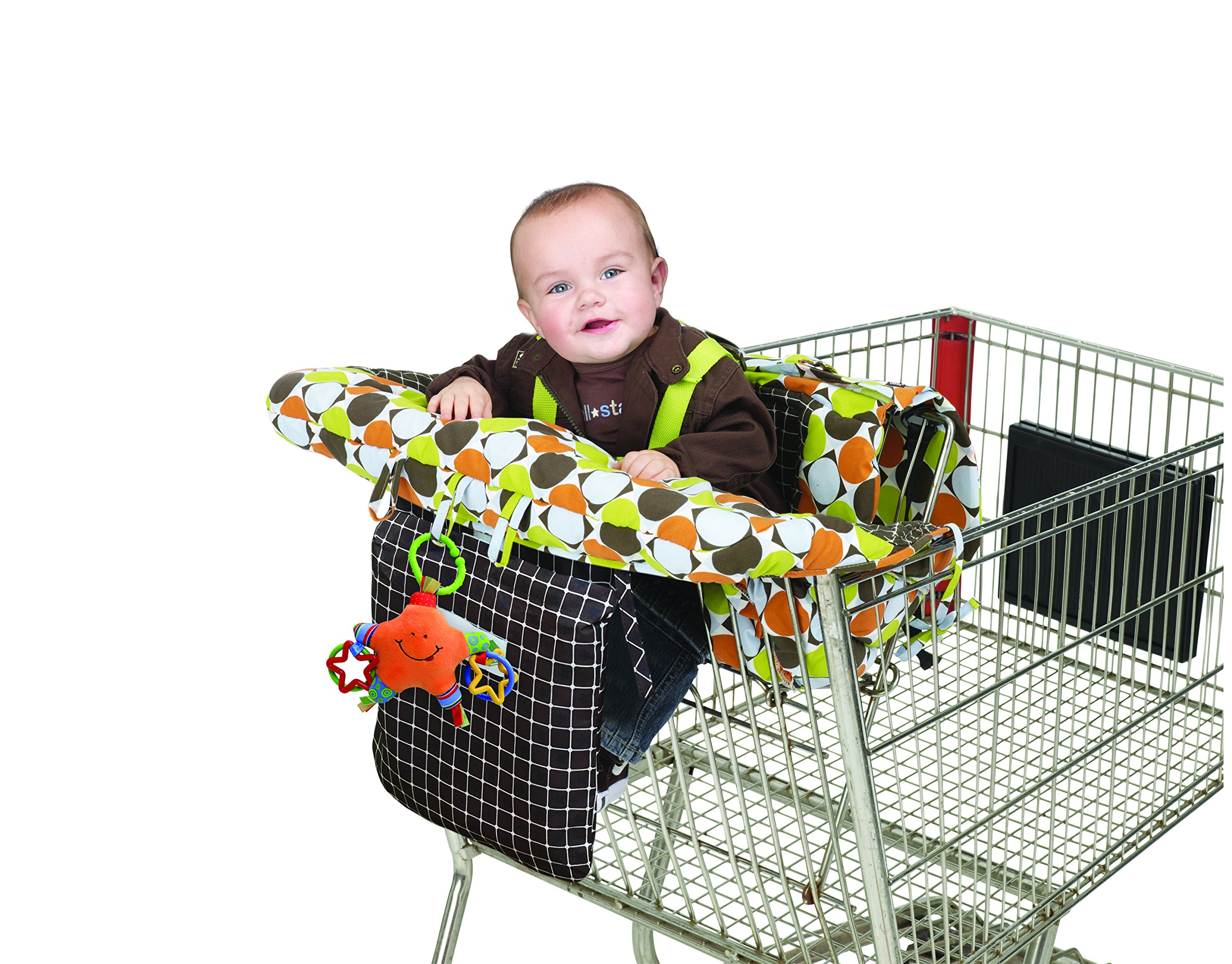 J is for Jeep 2-in-1 Shopping Cart Cover High Chair Cover, High Chair Cushion, Baby Grocery Cart Cover, Infant High Chair Cover, Safety Harness, Cart Cover, Toddler, Universal Size, Essentials Pocket