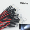 pre wired 3mm 5mm flashing white led light pre wired 12v dc diode