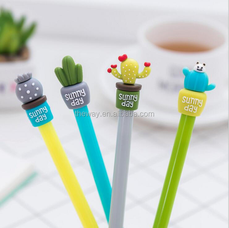 Cactus Gel Ink Pen Creative Roller Ball Pens Fine Point Stationery Office Supplies